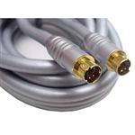 Calrad Electronics 55-772G-12 High Quality, Low Loss SVHS Cable with Gold SVHS Connectors, Silver Colored, 12 ft.