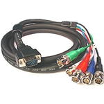 Calrad 55-866-1 HDTV Shielded Video/Computer Cable DB15HD to 5 BNC cable 1 ft. long