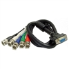 Calrad Electronics 55-866F-6 HDTV Shielded Video/Computer Cable DB15HD Female to 5 BNC Males cable 6 ft. long
