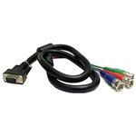 Calrad 55-873-BNC-12 15 Pin High Density HDTV Male to 3 BNC Plugs Cable 12 ft.