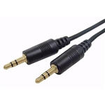 Calrad 55-897G-15 Stereo Mini Cable w/ 3.5mm Gold Plugs Each End 15' Long