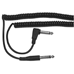 "Calrad Electronics 55-957 Coiled Guitar Cable 1/4"" Mono Plug to Right Angle 1/4"" Mono Plug - Extends 15ft."