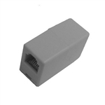 Calrad 70-408 Modular Cord Coupler 4 Wire For Voice Ivory