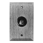 Calrad 70-535 Solid Oak Wall Plate 4 Wire Single Jack