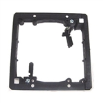 Calrad 70-569 Flush Mount Plastic Wall Bracket, Double Gang