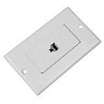 Calrad 70-570-ID<br>Flush Mount Modular Wall Plate Single 4 Wire Ivory Decora