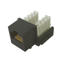 72-102-BK-E90 Calrad Keystone Jack, CAT5e RJ45 Connector UL 350 MHz Type 90 degree - Black