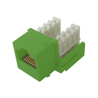 72-102-GN-E90 Calrad Keystone Jack, CAT5e RJ45 Connector UL 350 MHz Type 90 degree - Green