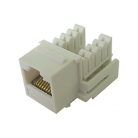 72-102-IV-E90 Calrad Keystone Jack, CAT5e RJ45 Connector UL 350 MHz Type 90 degree - Ivory
