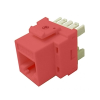 72-102-RD-E Calrad Keystone Jack, CAT5e RJ45 Connector UL 350 MHz - Red