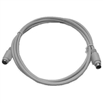 Calrad Electronics 72-190-10 Shielded 6 Pin Mini-DIN Extension Cable - 10 ft.