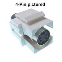Calrad 72-304-6-Color SVHS 6 Pin NICKEL Version Video Female to Female Recessed Feed-Thru Keystone Insert