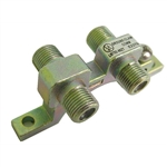 "Calrad 75-481 Double ""F"" Connector Ground Block - 1 GHz version"