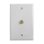 Calrad 75-493<br>TV Wall Plate with Gold F Connector - Ivory