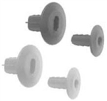 Calrad 75-498<br>Through the Wall Bushing for RG-59, RG-6 cable - <b>Ivory</b>