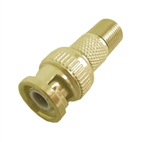 "Calrad 75-517G<br>Gold ""F"" Female to BNC Male Adapter"