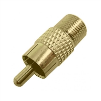 "Calrad 75-518G<br>Gold ""F"" Female to RCA Type Plug Adapter"