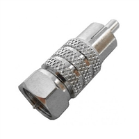 "Calrad Electronics 75-523 RCA Male to ""F"" Male Adapter"