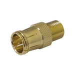 "Calrad 75-530G Gold ""F"" Male Push-on to ""F"" Female Adapter"