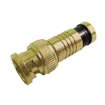 Calrad 75-534G-PS-BNC BNC PermaSeal Compression Gold Male Connector for RG-6
