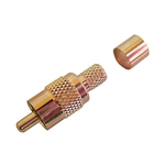 Calrad 75-537G Gold RCA Phone Plug w/ Crimping Ring for RG-59/U Cable