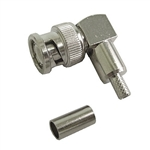 Calrad 75-554 BNC Right Angle 2 pc. Crimp Connector for RG-58