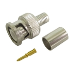 Calrad 75-680 BNC Crimp-on Connector for RG-6 Cable 3 Pieces 75 Ohm Version