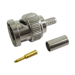 Calrad Electronics 75-687 BNC male crimp connector for Belden 8218 or equivalent cable - 75 ohm - 3 piece