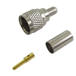 Calrad Electronics 75-615 Mini UHF Male Crimp-on Connector for RG-58 3 Pieces