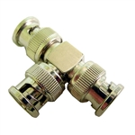 "Calrad Electronics 75-621 3-Way BNC ""T"" Connector w/ 3 Male Connectors"