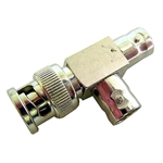 "Calrad Electronics 75-623 BNC ""T"" Connector w/ 1 Male to 2 Females"