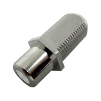 "75-635A Calrad Electronics ""F"" Female to RCA Female Feed-Thru Hex Style with White Insert Audio Video Adapter"