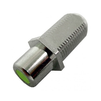 "75-635A-GN Calrad Electronics ""F"" Female to RCA Female Feed-Thru Hex Style with Green Insert Audio Video Adapter"
