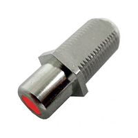 "75-635A-RD Calrad Electronics ""F"" Female to RCA Female Feed-Thru Hex Style with Red Insert Audio Video Adapter"