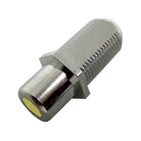 "75-635A-YL Calrad Electronics ""F"" Female to RCA Female Feed-Thru Hex Style with Yellow Insert Audio Video Adapter"