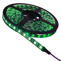 Calrad Blue LED Light Strip, 300 Green 3-Chip LED High Grade 5-Meter Light Strip on reel 92-300-GN-HG