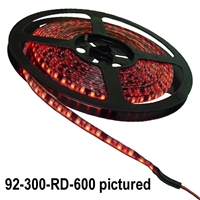Calrad Electronics 92-300 600 1-Chip LED 5-Meter Light Strip on reel - Select Color