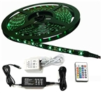Calrad 92-301-RGB-R-KIT 300 3-Chip LED RGB 5-Meter Light Strip on reel <b>with Remote and Power Supply</b>