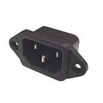 Calrad Electronics 95-770 Chassis Mount AC Male Socket