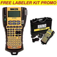 Dymo Rhino 5200 Industrial Label Printer Hard Case Kit Promotional