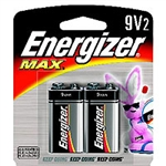Energizer 522BP-2 Energizer Max 9V 2-Pack Batteries