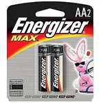 Energizer E91BP-2 Energizer MAX - 2 Pack Standard AA Size Battery