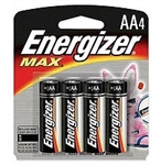 Energizer E91BP-4 Energizer MAX - 4 Pack Standard AA Size Battery