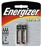 Energizer E92BP-2 Energizer MAX - 2 Pack Standard AAA Size Battery