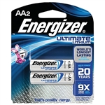 Energizer L91BP-2 AA Energizer Ultimate Lithium Batteries - 2/pkg