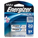Energizer L92BP-2 AAA Energizer Ultimate Lithium Batteries - 2/pkg