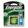 Energizer NH12BP-4 Recharge Power Plus AAA Rechargeable Batteries 4 Pack