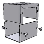 "Hammond 1411B<br>Aluminum Enclosure - <b>2.7""L x 2.2""W x 1.6""H</b> - Grey Painted"