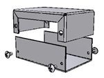 "Hammond 1411C<br>Aluminum Enclosure - <b>3.2""L x 2.2""W x 1.1""H</b> - Grey Painted"