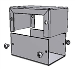 "Hammond 1411D<br>Aluminum Enclosure - <b>3.2""L x 2.2""W x 1.6""H</b> - Grey Painted"